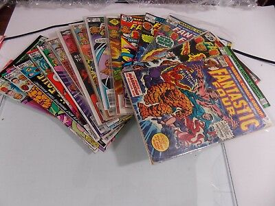 FANTASTIC FOUR  lot of 18 medium to high grade  1975 to 1983 all Bronze Age