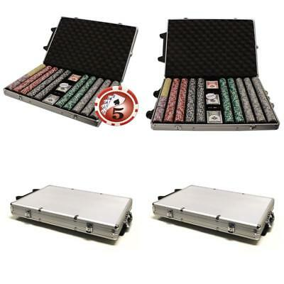Brybelly 1000-Count Yin Yang 14 Gram Poker Chip Set In Rolling Aluminum Case