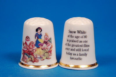 Disney Snow White 80yrs Old Still Loved & Family Favourite China Thimble B/138