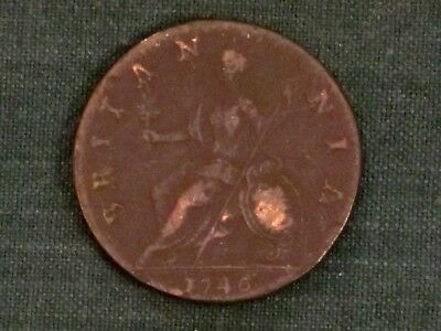 ***** 1746 Half Penny  (Great Britain)  KM# 579.2  Excellent example!