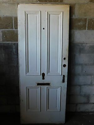 Antique Victorian Style Entry Door - C. 1880 Butternut Architectural Salvage
