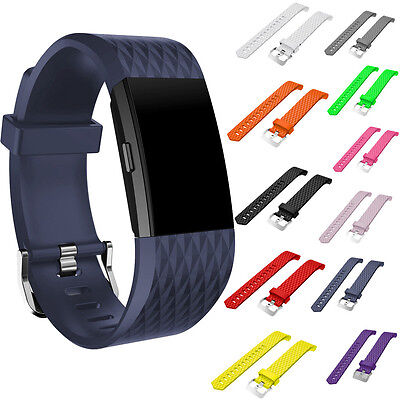 pour Fitbit Charge 2 mode Fitness Tracker SILICONE SOUPLE montre bracelet