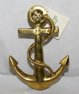 Brass Anchor Door Knocker Nautical Decor Solid 6 Inch Shiny Gold Color India