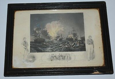 Lord Horatio Admiral Nelson Vintage Philip James De Loutherbourg Framed Print