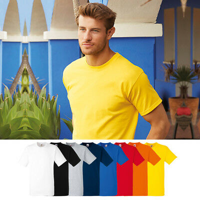 5 SERIE pacchetto FRUIT OF THE LOOM PESANTE COTONE NUOVA T SHIRT