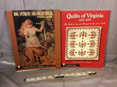 Lot Of 2 Quilts Of Virgina And Dog Antiques And Collectibles