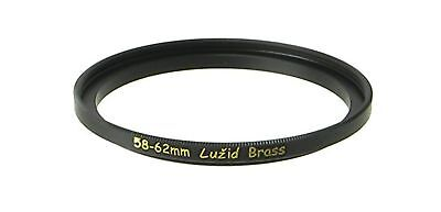 LUID Brass 58mm to 62mm Step Up Filter Ring Adapter 58 62 Luzid