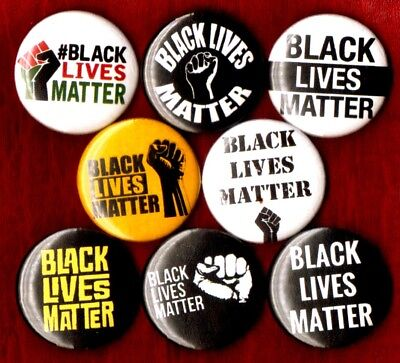 Black Panther Party 8 NEW 1 inch pins button power Free Huey Newton lives matter