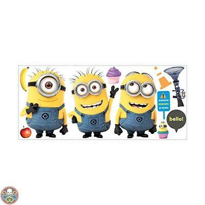 Roommates Despicable Me 2 Minions Giant Peel And Stick Giant Wall Decals Nuovo