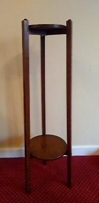 Antique Arts And Crafts Two Tier Plant Stand