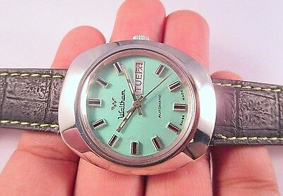 Auth Vintage Waltham Automatic Day-Date Swiss Made Men's Watch #t544