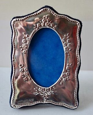 Small Victorian Style Solid Silver Photo Frame - Christening Gift
