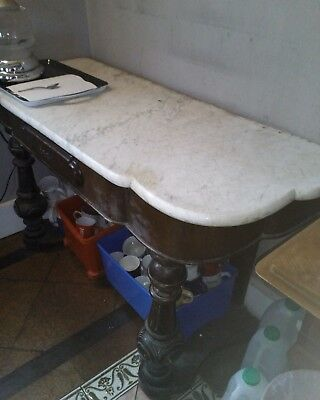 Marble wash stand / side table