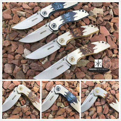 Monogram Custom Tactical Engraved Personalized Knife Japanese Hannya Design
