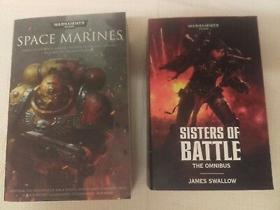 WARHAMMER X2 SISTERS OF BATTLE OMNIBUS & SPACE MARINES 1st EDITIONS PB EXCELLENT