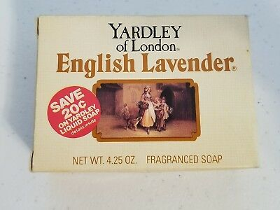 Vintage YARDLEY of LONDON ENGLISH LAVENDER SOAP 4.25 Ounce New Old Stock Box