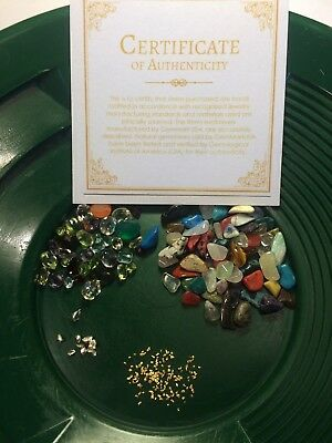 New Gemstone Pay dirt Concentrate w/ placer Gold! Lots of gold flakes 8 oz bag.