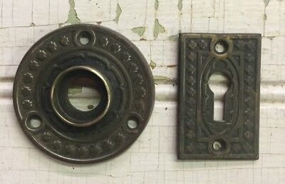 #7 Matching Door knob Rosette and Key hole cover