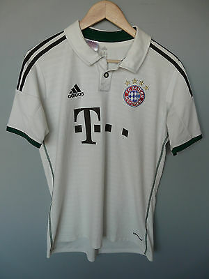 Vtg Bayern Munich Adidas 2013 Away Football Shirt Trikot Sz 15-16Y YXL (041)