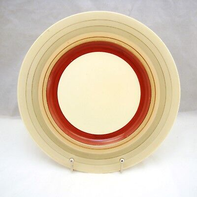 Susie Cooper Crown Works England WEDDING BAND Art Deco Lot of 8 Dinner Plates