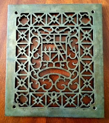 1870s Gothic Aristocrat Iron Forest Park Estate Refurbished Register Grate Vent