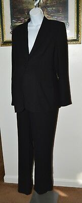 A Pea In The Pod Maternity Black Pant Suit Blazer Pants Sz L XL