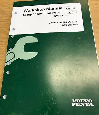 VOLVO PENTA WORKSHOP Manual for Group 30 Electrical System EVC-D 47701823