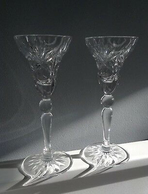 Pair Of Lead Crystal Candle Holders