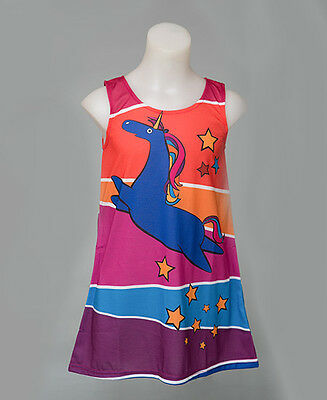 Girls dress - rainbow unicorn size 2-6 | FREE DELIVERY | Designed by deezo