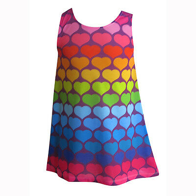 Girls Rainbow dress | size 2-12 | FREE DELIVERY | Designed by deezo