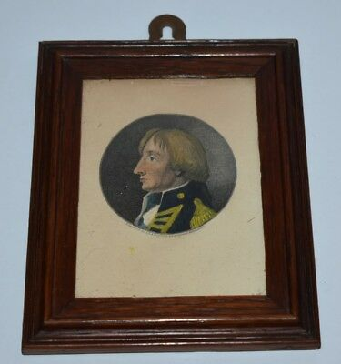 Lord Horatio Admiral Nelson Engrav'd A.Easto Vintage Print Minature Framed