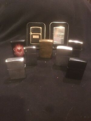 Vintage ZIPPO Lighter Collection Lot of 9