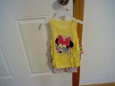 Brand New Toddler Girl's Size 2T Disney Minnie Mouse 2 Piece Outfit