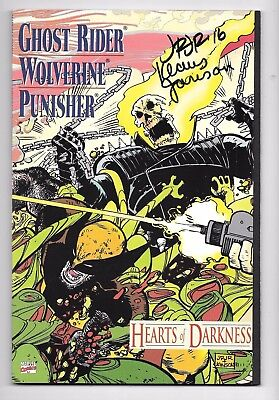 Marvel Ghost Rider Wolverine Punisher Hearts of Darkness 1991 NM Signed 2X