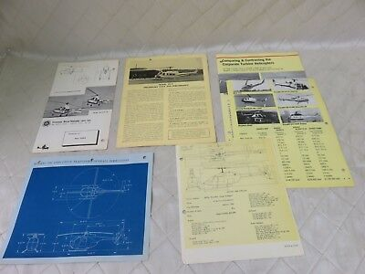 Bell Hughes Helicopter Corporate Brochures Vintage RARE LOT