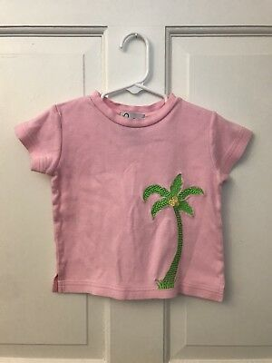 Lilly Pulitzer Toddler Girl's Short Sleeve T Shirt 3T Pink - Palm Tree