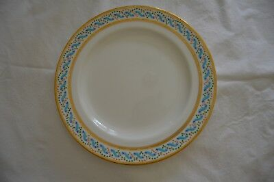 Minton plates gilt, with turquoise, blue ribbons, green red pearling