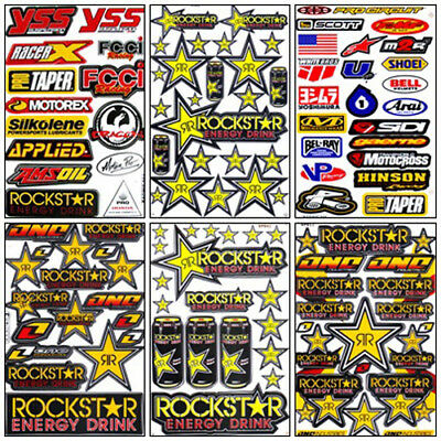 Suzuki Motocross Decal Sticker Kit Set 6 Sheets #RX-601