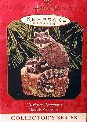 "Hallmark 1999 Curious Raccoons  #3 In  The  ""majestic Wilderness ""  Series)"