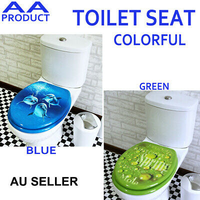 Universal Colorful Bathroom Toilet Seat Cover Lid Metal Hinge Multiple Choice