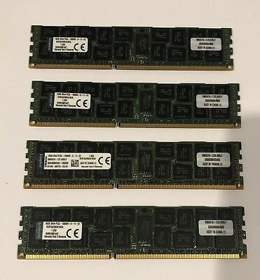64GB (4x16GB) 2Rx4 PC3L-10600R 1333MHz DDR3L Kingston RAM Server Memory