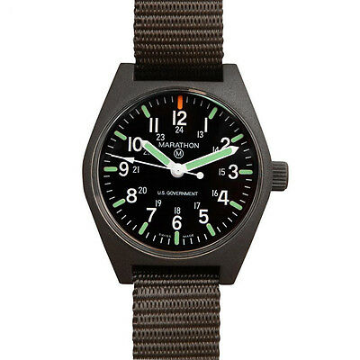 US MILITARY ISSUE FIELD WATCH MARATHON QUARTZ MARAGLO NEW w/ Box + 2 Yr Warranty