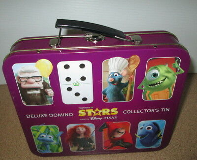 Woolworths Disney Pixar Deluxe Domino Case Collector's Tin With Spare Dominos