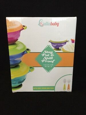 Stay Put and Spill Proof Suction Toddler Baby Bowls Feeding Set, Free Shipping