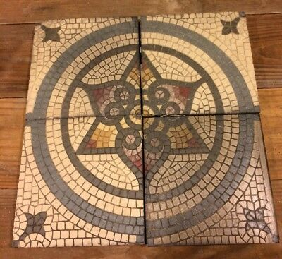 Vintage Villeroy & Boch Tile Architectural Salvage Antique Art Deco Backsplash