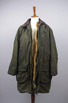 Barbour A123 Gamefair Waxed Coat Jacket C40/112CM Fishing Hunting Green Lining