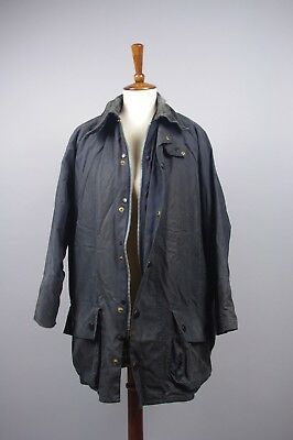Barbour A155 Beaufort Waxed Coat Jacket C40/112CM Fishing Hunting Blue Lining