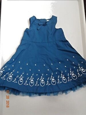 Janie And Jack Baby Girl Dress Size 3 - 6 Months,teal Color