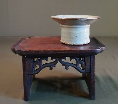 Beautiful Small Vintage Korean Rectangular Yaksang Herb Table Hand Carved