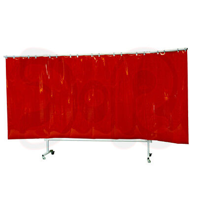 Poster 375 cm wide red mobile Welding protection wall Welder protection wall